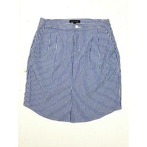 Banana Republic Striped Skirt in Blue and White